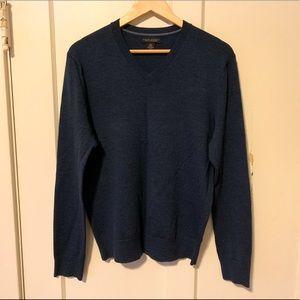 Banana Republic merino wool sweater navy